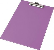 Podložka psací s klipem PANTAPLAST PVC A4 pastelově fialová