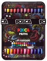 Voskové pastely POSCA KPA-100 24C 24-sada