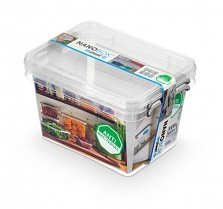 NANOBOX - Antibakteriální box s madlem 2 l čirý 2 kusy
