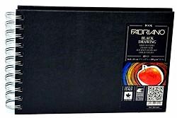 Blok s černými papíry Fabriano 190g A5 kroužková vazba 40 listů