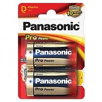 Baterie Panasonic Pro Power Alkaline 2ks velké monočlánky 1,5 V