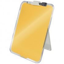 Stolní skleněná tabulka na poznámky Leitz Cosy žlutá