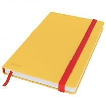 Zápisník Leitz Cosy s tvrdými hebkými deskami, linkovaný, žlutý