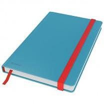 Zápisník Leitz Cosy s tvrdými hebkými deskami, linkovaný, modrý