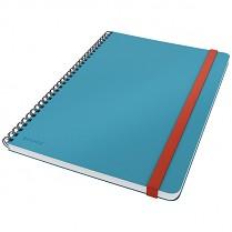 Zápisník Leitz Cosy kroužkový, linkovaný, modrý