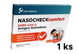 Antigenní test Lepu Medical  Nasocheck comfort SARS-CoV-2 z okraje nosu 1 ks samostatná krabička