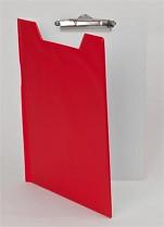Podložka psací s klipem a zakrývací deskou PANTAPLAST PVC A4 červeno-šedá