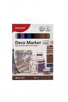 Popisovač akrylový MONAMI 460 DECO MARKER hrot 2mm RICH SET 6- sada