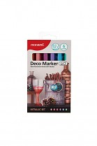 Popisovač akrylový MONAMI 463 DECO MARKER hrot 0,7mm METALLIC SET 6- sada