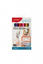 Popisovač akrylový MONAMI 463 DECO MARKER hrot 0,7mm VIVID SET 6- sada