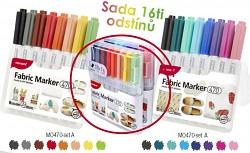 Popisovač na textil MONAMI 470 set A sada 16 kusů