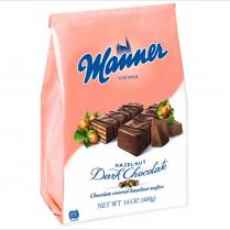 Sušenky Manner miňonky oříškové v hořké čokoládě 400g