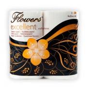 Toaletní papír Flowers Excellent 4 rol.  2-vrstvý bílý