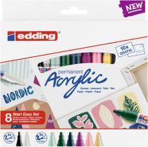 Popisovač akrylový EDDING sada Nordic Easy Start 8-sada