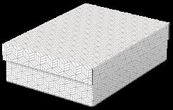 Úložný a dárkový box Esselte Home střední 3 kusy bílý