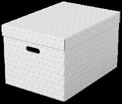 Úložný box Esselte Home velký 3 kusy bílý