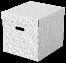 Úložný box Esselte Home krychlový 3 kusy bílý