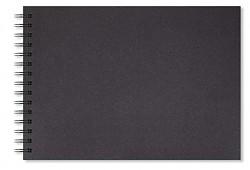 Skicák A4 Artgecko Shady 200g/m2 40 černých listů spirála na šířku
