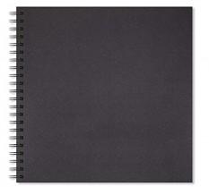 Skicák 300 x 300 mm Artgecko Shady 200g/m2 40 černých listů spirála