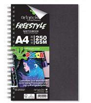 Skicák A4 Artgecko Freestyle POSCA 250g/m2 30 bílých listů spirála  na výšku