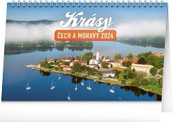 Kalendář stolní Krásy Čech a Moravy