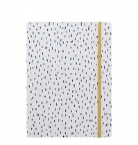 Poznámkový blok Filofax Notebook INDIGO A5 Rain