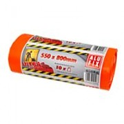 Odpadkové pytle Alufix extra silné 60l, 10ks 60µm MDPE 55x80cm oranžové