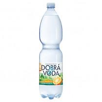 Dobrá voda 1,5L Pomeranč_jemně_perlivá