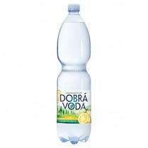 Dobrá voda 1,5L Citron_jemně_perlivá