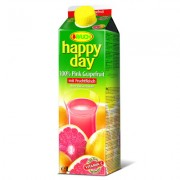 Happy Day 100% džus 1L růžový grep s dužinou