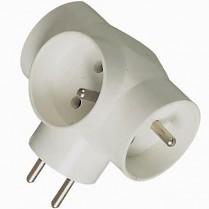 Rozbočovač na 220 V PPR02 3 zásuvka bílý