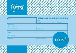 Výdajový pokladní doklad OPTYS nepropis. 100 listů