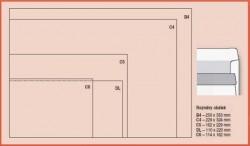 Obálka DL/O vpravo samolepicí 1000ks bílá