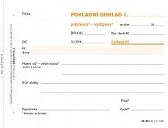 Univerzální příj. - výd. pokladní doklad OPTYS A6 NCR 100 listů OP1093