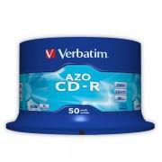 CD-R Verbatim AZO 52x 700MB Spindle_50_ks Crystal