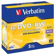 DVD+RW Verbatim DLP AZO 4x 4,7GB 5 ks Jewel Silver