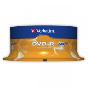 DVD-R Verbatim DLP AZO 16x 4,7GB 25 ks Spindle Silver