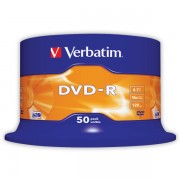 DVD-R Verbatim DLP AZO 16x 4,7GB 50 ks Spindle Silver