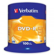 DVD-R Verbatim DLP AZO 16x 4,7GB 100 ks Spindle Silver