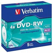 DVD-RW Verbatim DLP AZO 4x 4,7GB 5 ks Jewel Silver