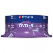 DVD+R Verbatim DLP AZO 16x 4,7GB 25 ks Spindle Silver