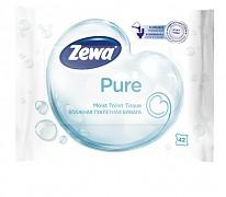 Toaletní papír ZEWA 42 ks vlhčený bílý PURE