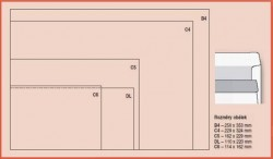 Obálka B4 samolepicí 250ks bílá