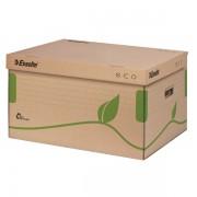 Archivační kontejner s víkem Esselte Eco Přírodní hnědá