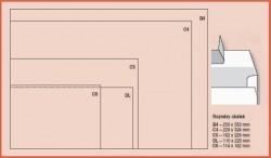 Obálka DL/O vpravo odtrhávací pruh 1000ks bílá