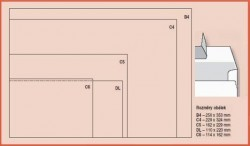 Obálka DL/O VLEVO odtrhávací pruh 1000ks bílá