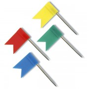 Upínáčky RON - praporek 25ks mix barev