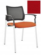 Židle jednací 2170 Rocky NET C Termín dodání: 10_dní D03 - červená