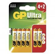 Baterie GP Ultra Alkaline 4 ks mikrotužkové AAA 1,5 V