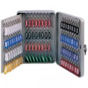 Schránka na klíče DONAU kovová nástěnná 140 klíčů šedá